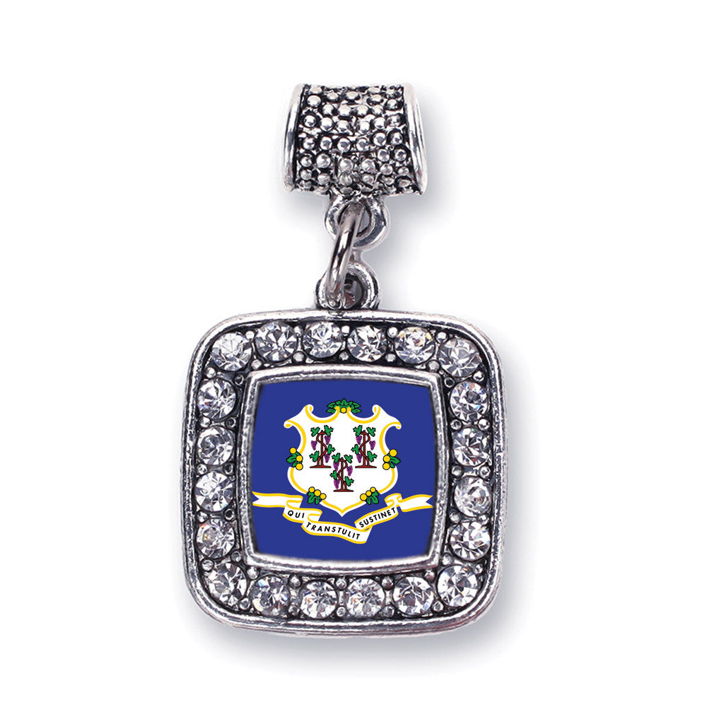 Connecticut Flag Square Charm