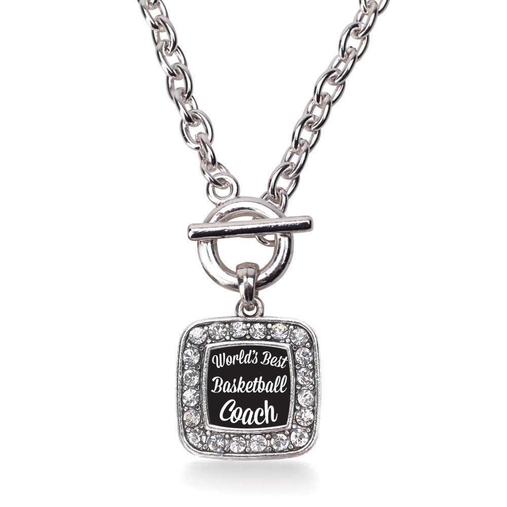 World's Best Basketball Coach Square Charm