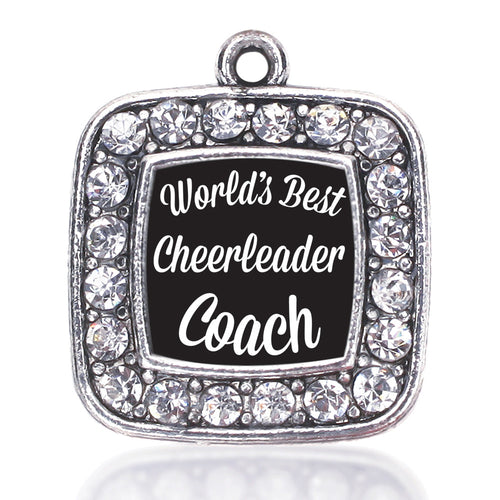 World's Best Cheerleader Coach Square Charm