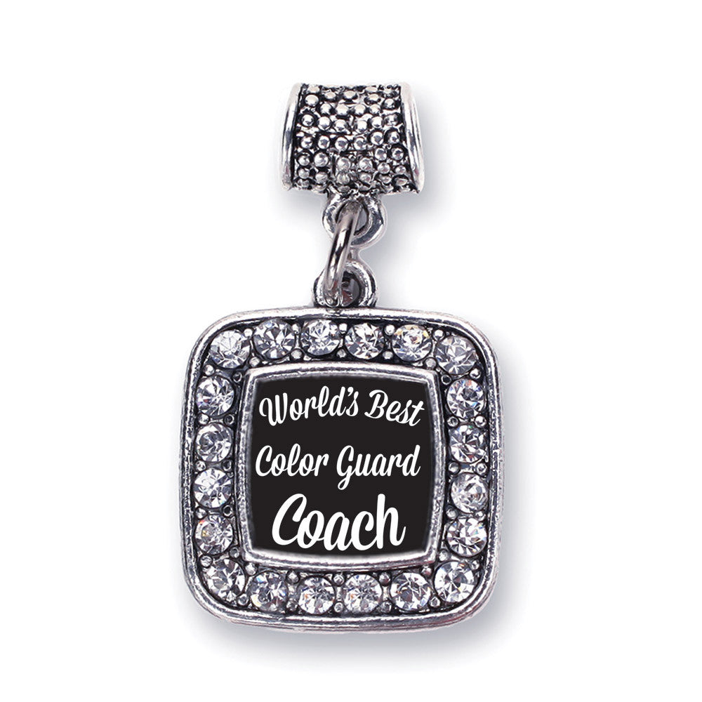 World's Best Color Guard Coach Square Charm