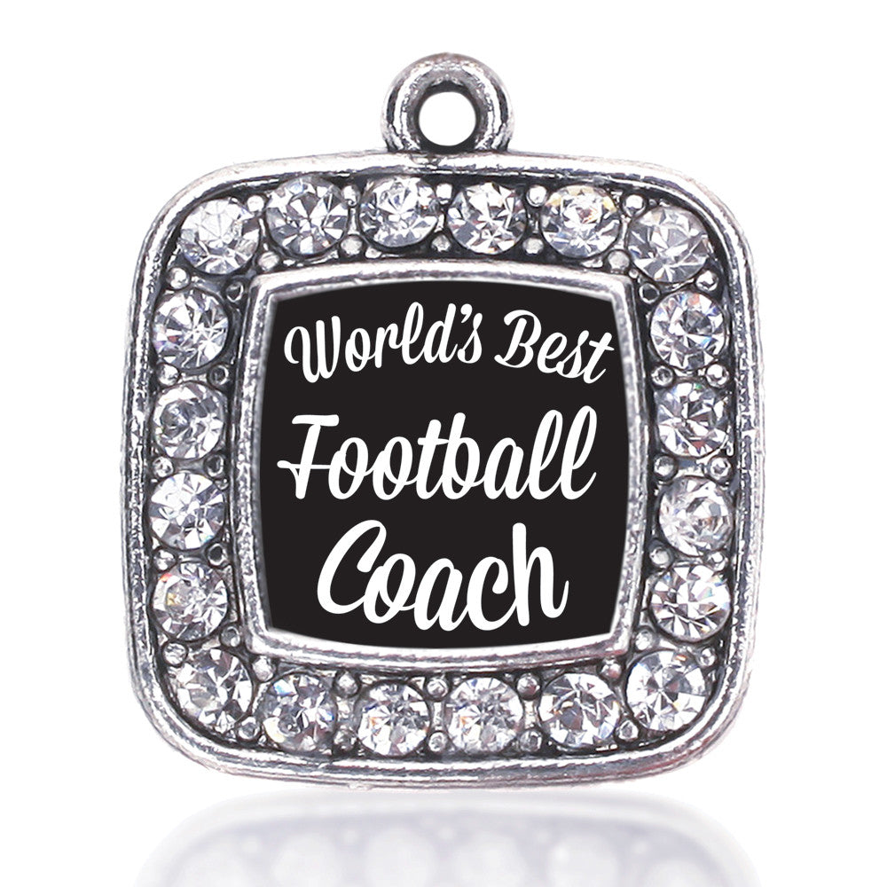 World's Best Football Coach Square Charm