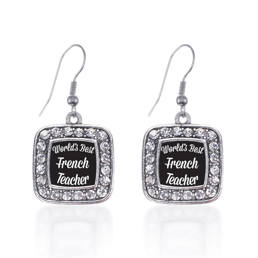 World's Best French Teacher Square Charm
