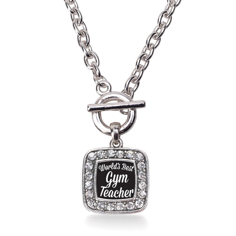 World's Best Gym Teacher Square Charm