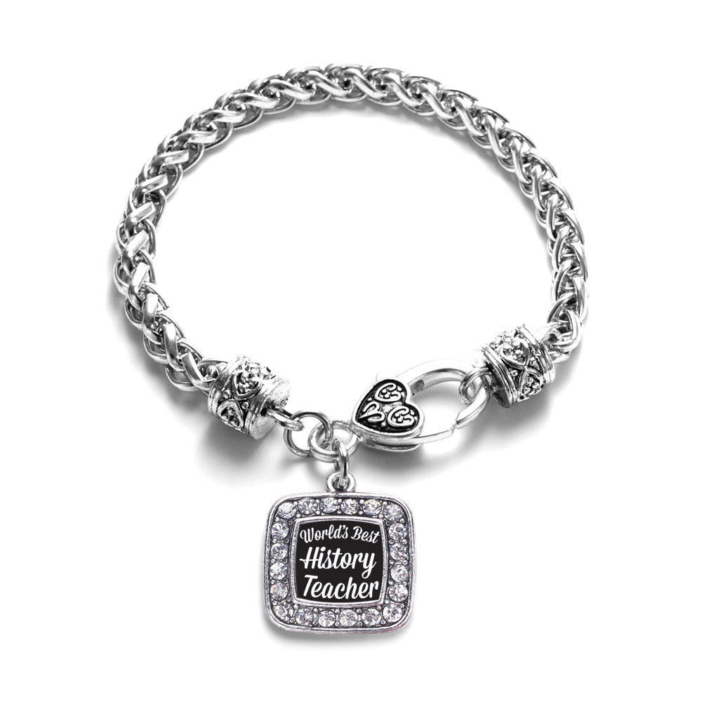 World's Best History Teacher Square Charm