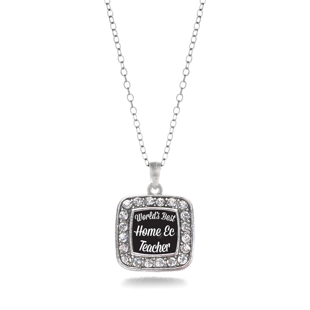 World's Best Home Ec Teacher Square Charm