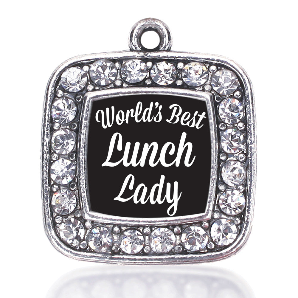 World's Best Lunch Lady Square Charm