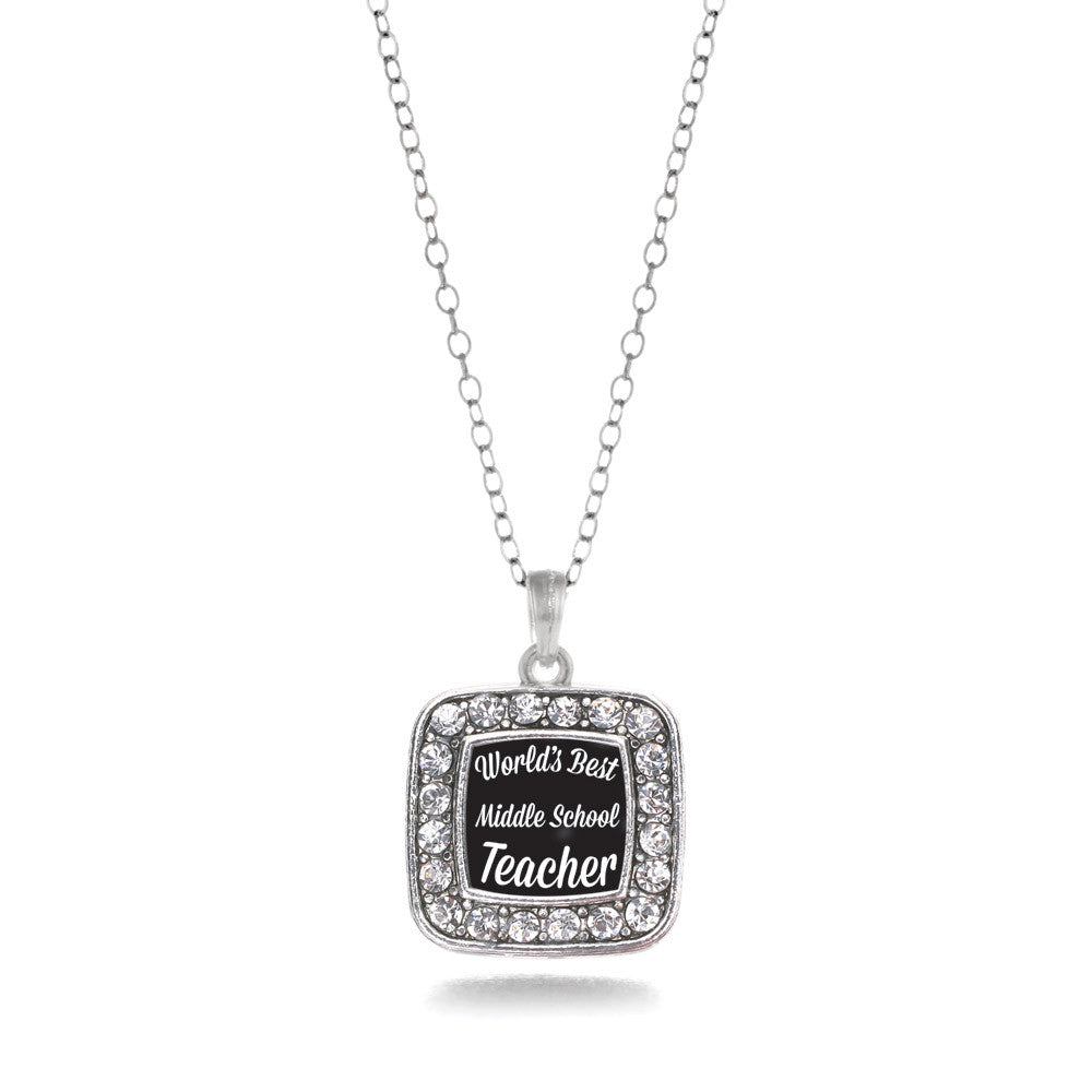 World's Best Middle School Teacher Square Charm