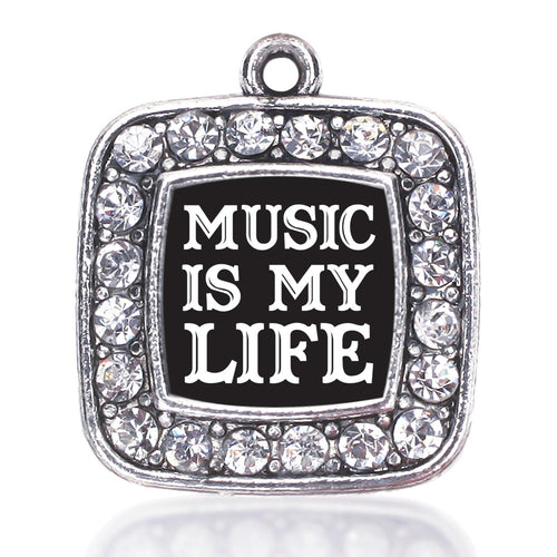 Music Is My Life Square Charm