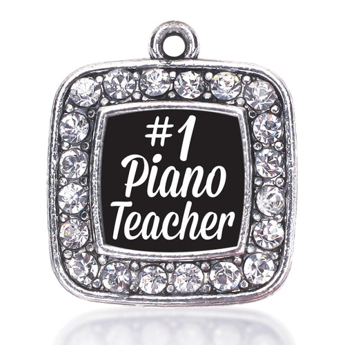#1 Piano Teacher Square Charm