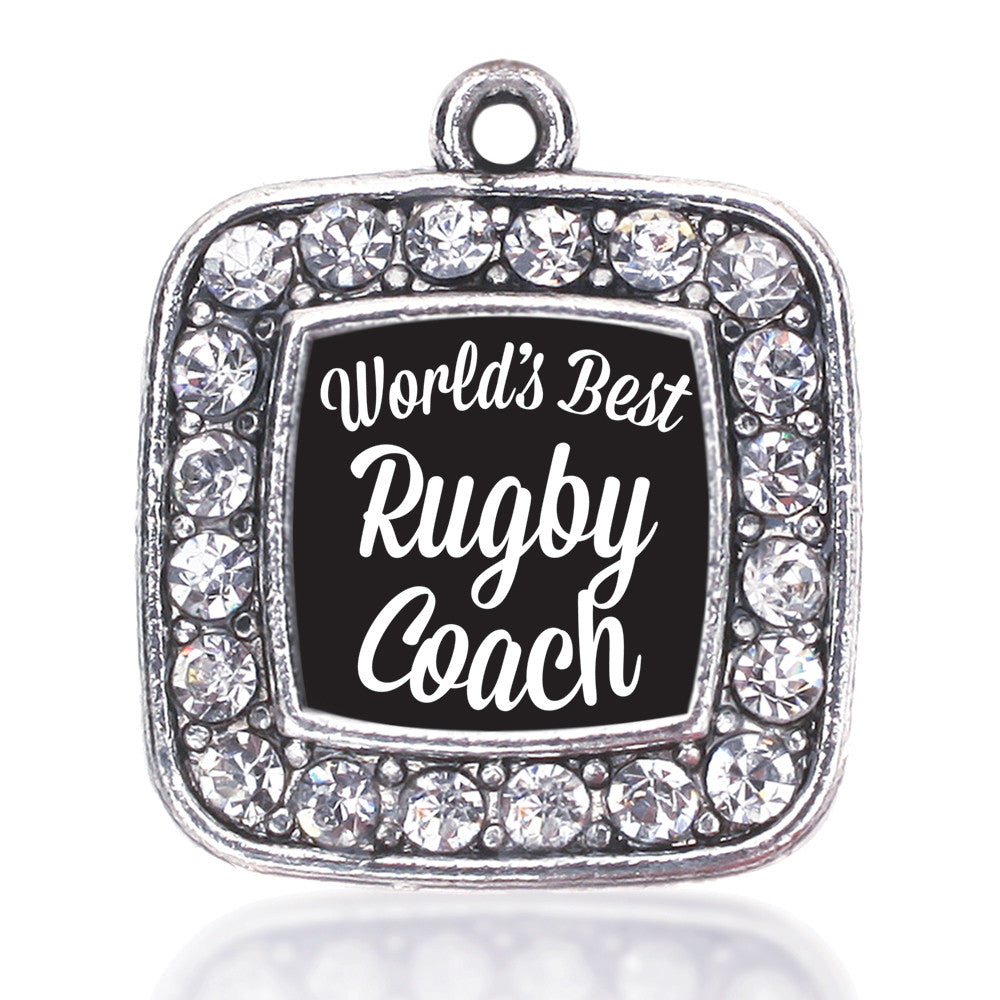World's Best Rugby Coach Square Charm