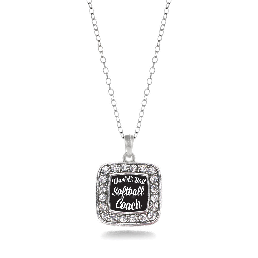 World's Best Softball Coach Square Charm