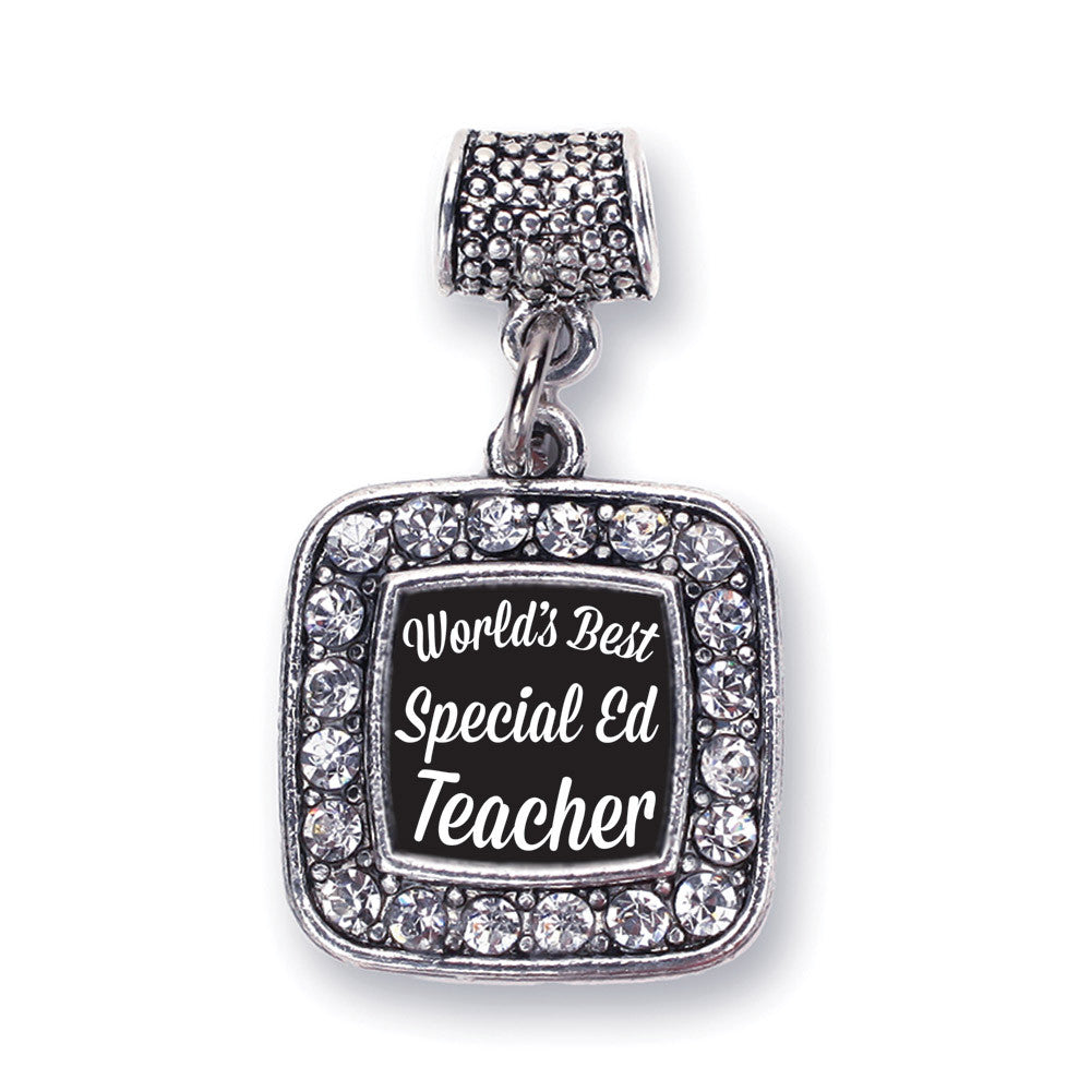 World's Best Special Ed Teacher Square Charm