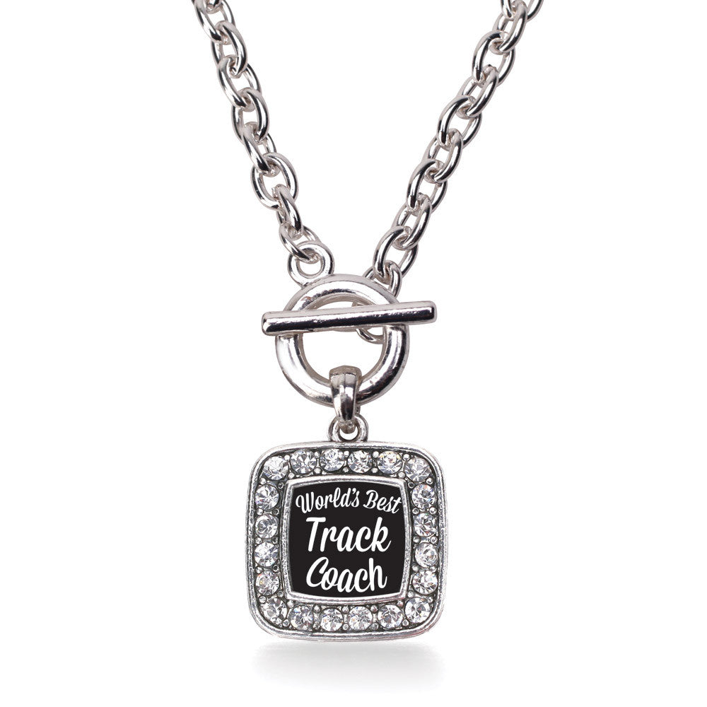 World's Best Track Coach Square Charm