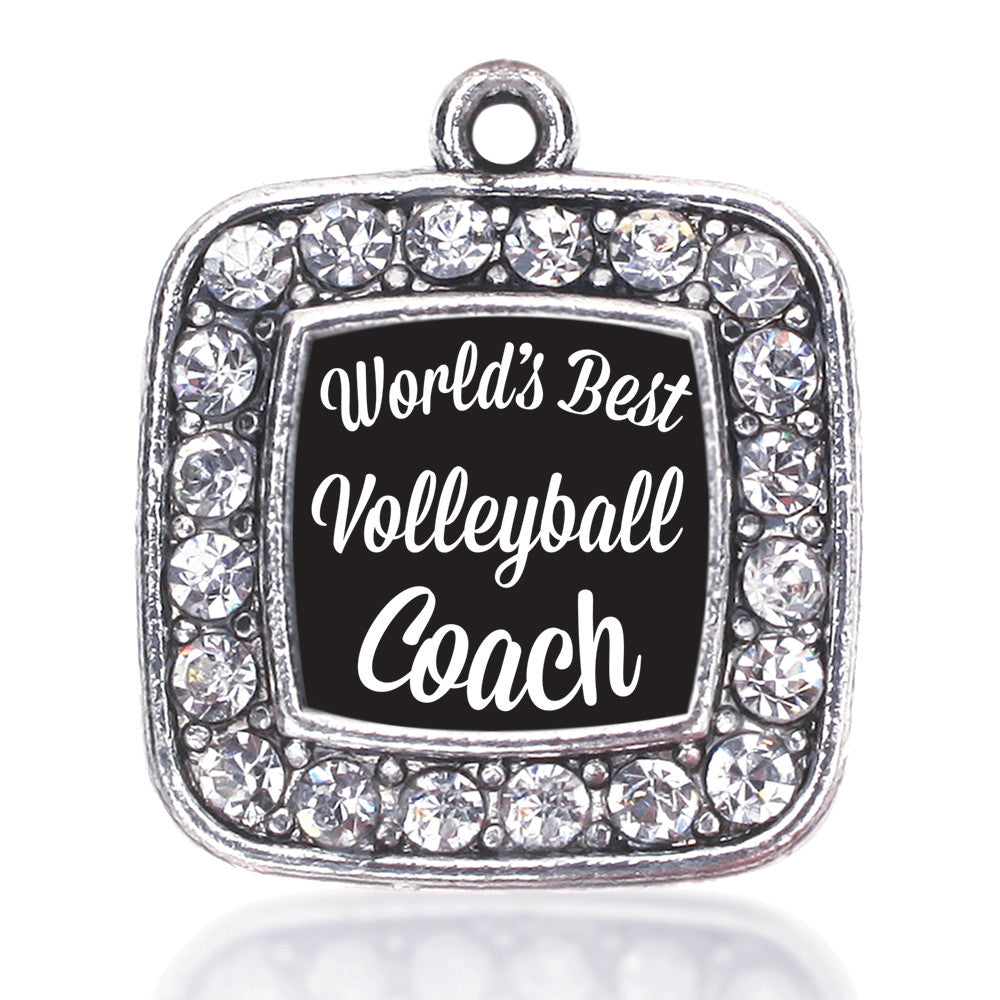 World's Best Volleyball Coach Square Charm