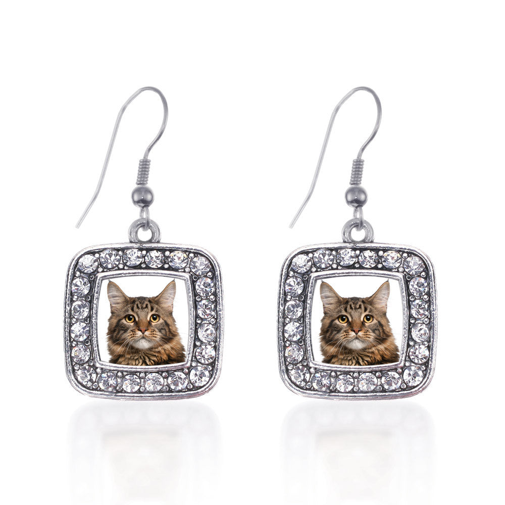 Maine Coon Cat Square Charm