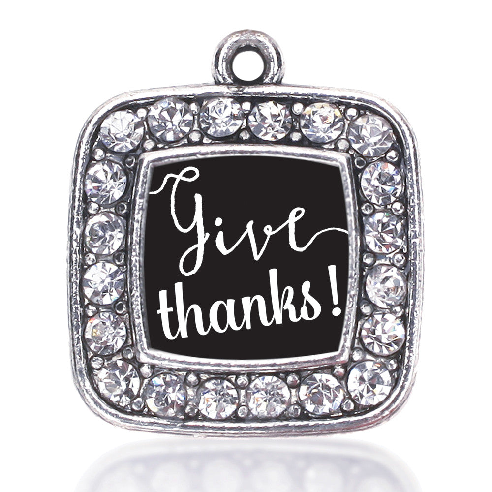 Give Thanks Square Charm