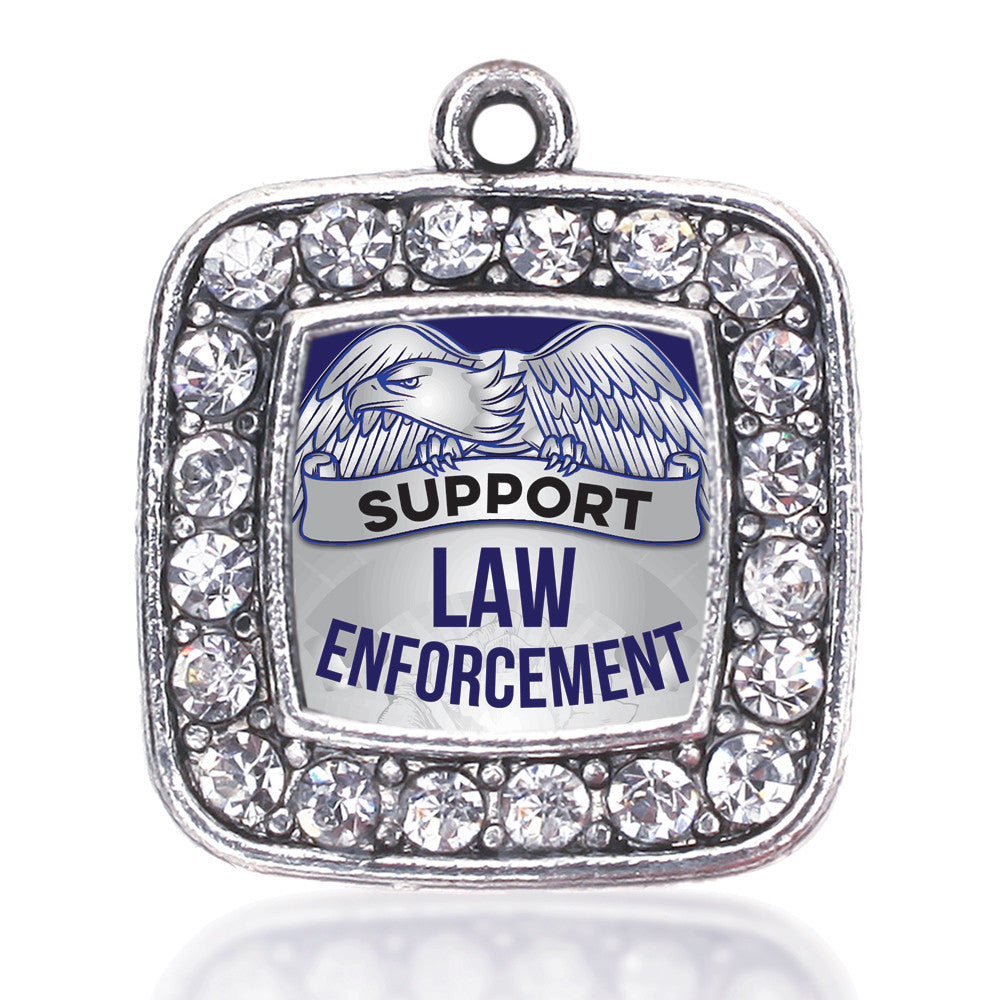 Law Enforcement Support Square Charm