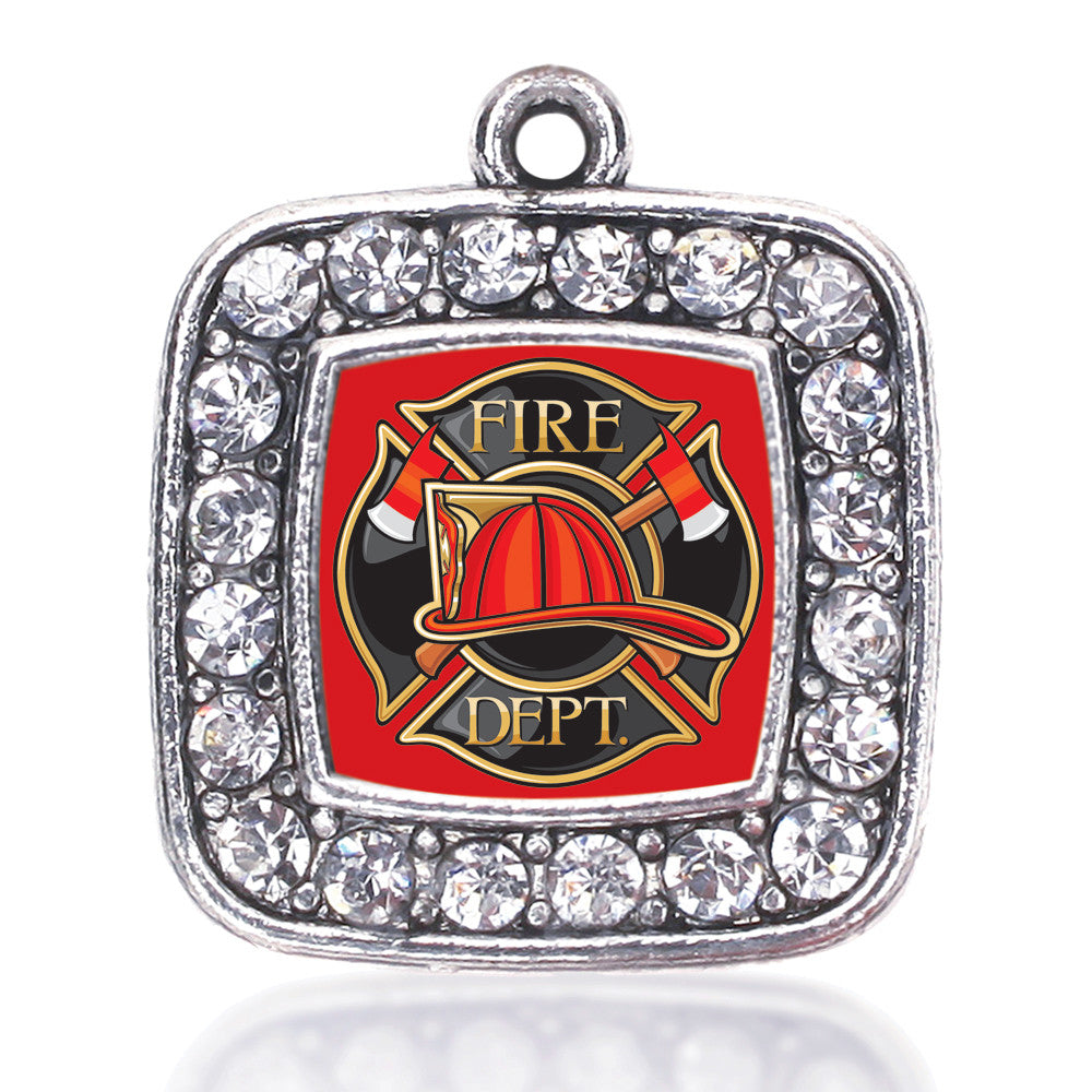 Fire Department Badge Square Charm