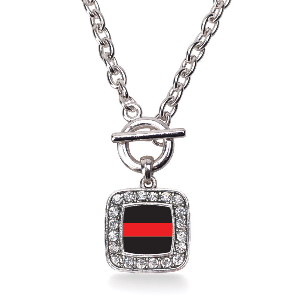 Thin Red Line Fire Department Support Square Charm