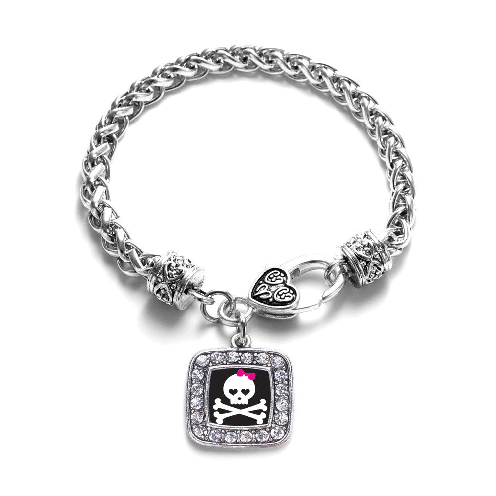 Cute Skull And Crossbones Square Charm