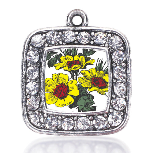 Coreopsis Flower Square Charm