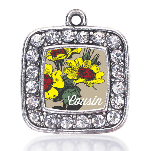 Cousin Coreopsis Flower Square Charm
