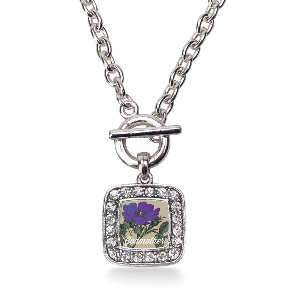 God Mother Violet Square Charm
