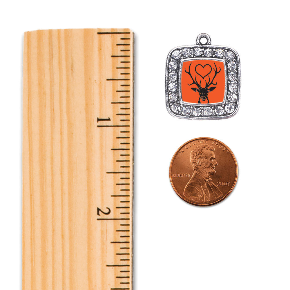 Deer Season Square Charm