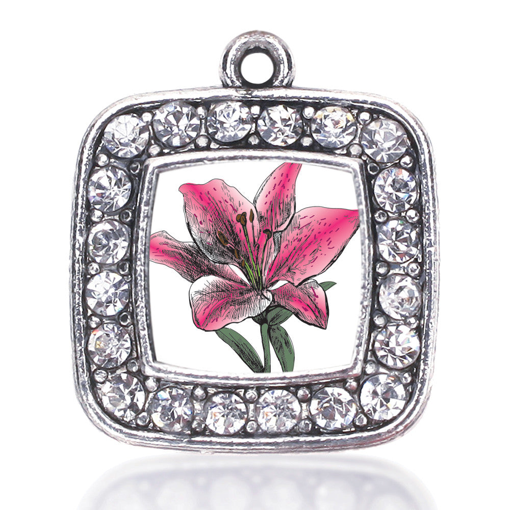 Lily Flower Square Charm