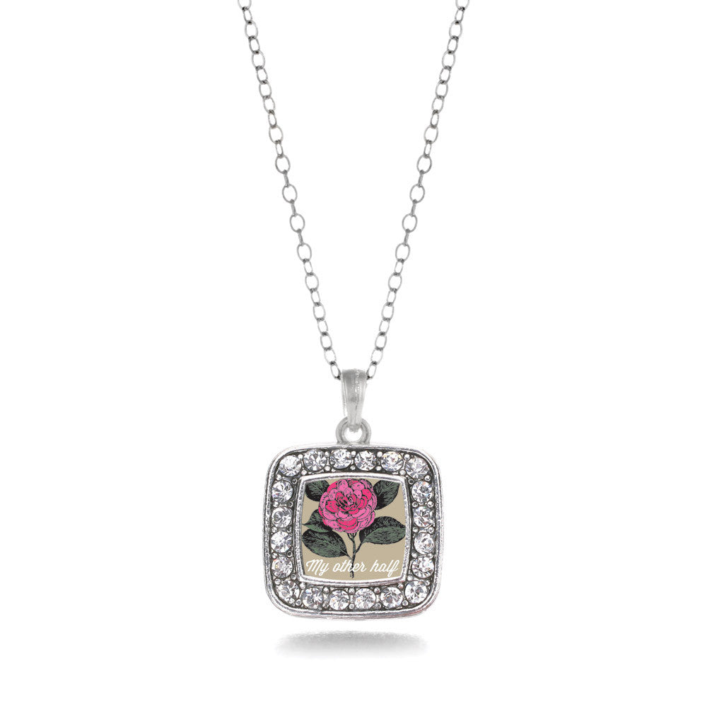 My Other Half Camellia Flower Square Charm