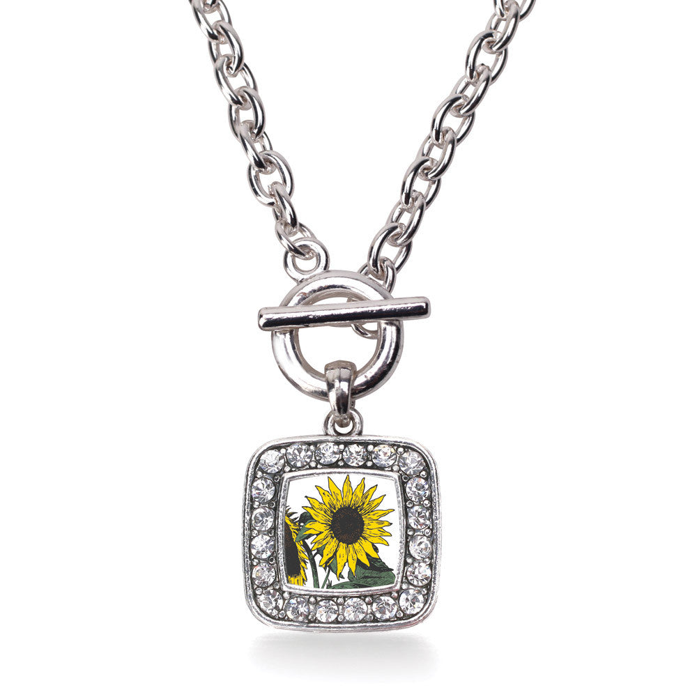 Sunflower Square Charm