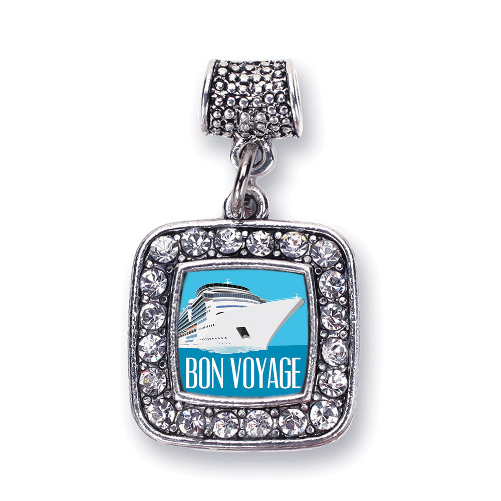 Bon Voyage Cruise Ship Square Charm