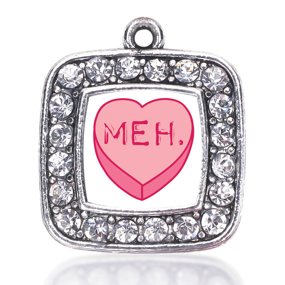 Meh Candy Heart Square Charm