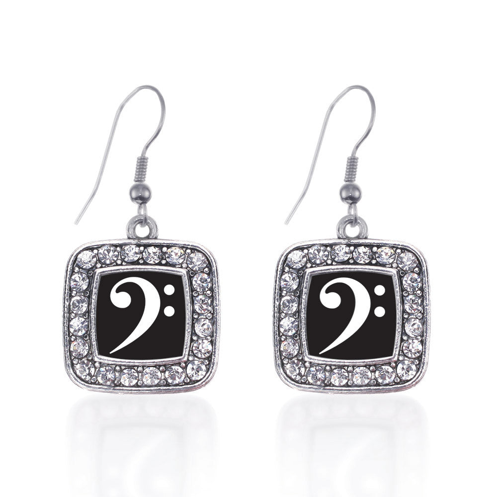 Bass Clef Square Charm