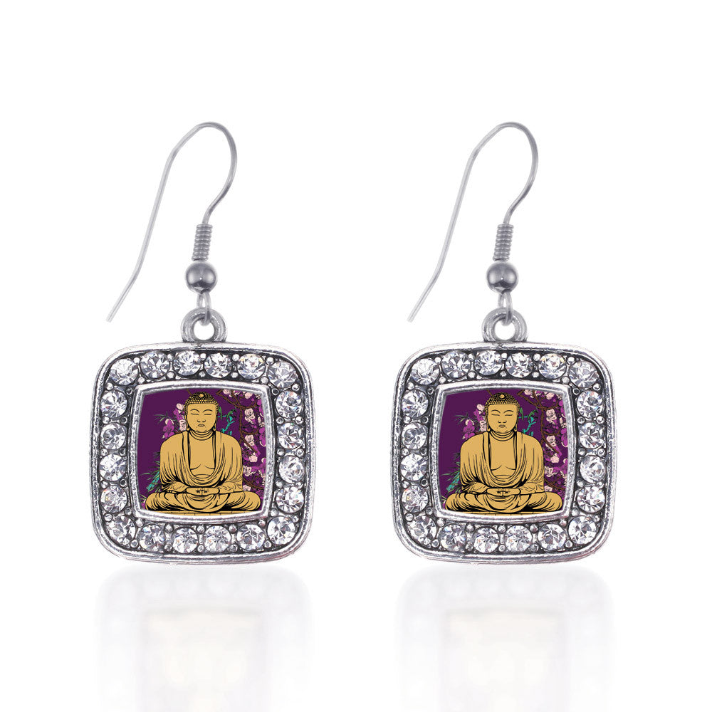 Buddha And Cherry Blossoms Square Charm