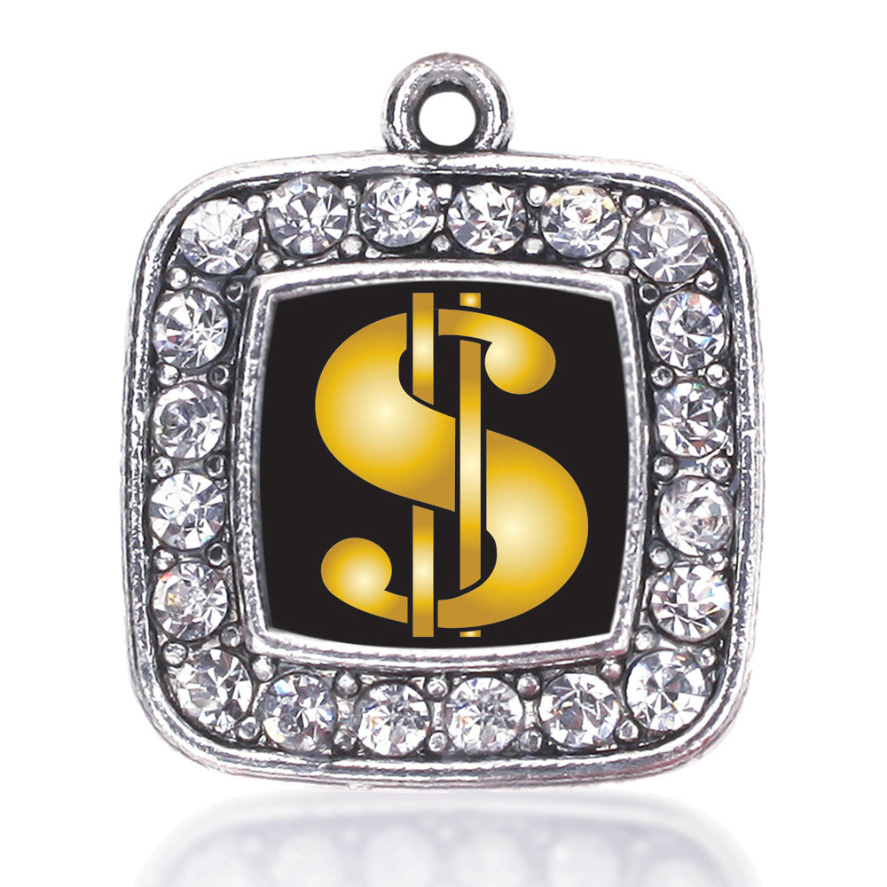 Dollar Sign Square Charm