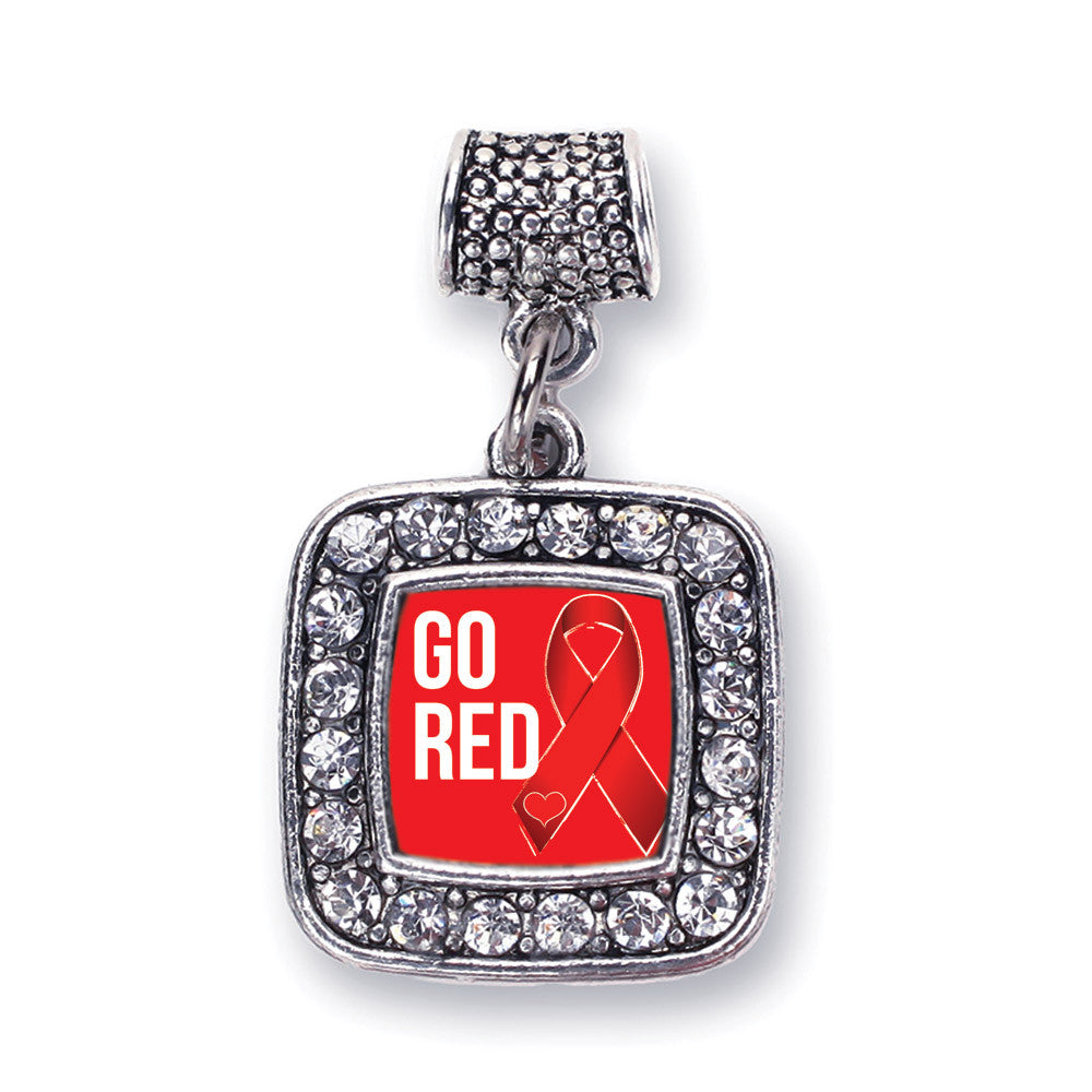 Go Red Heart Disease Awareness Square Charm