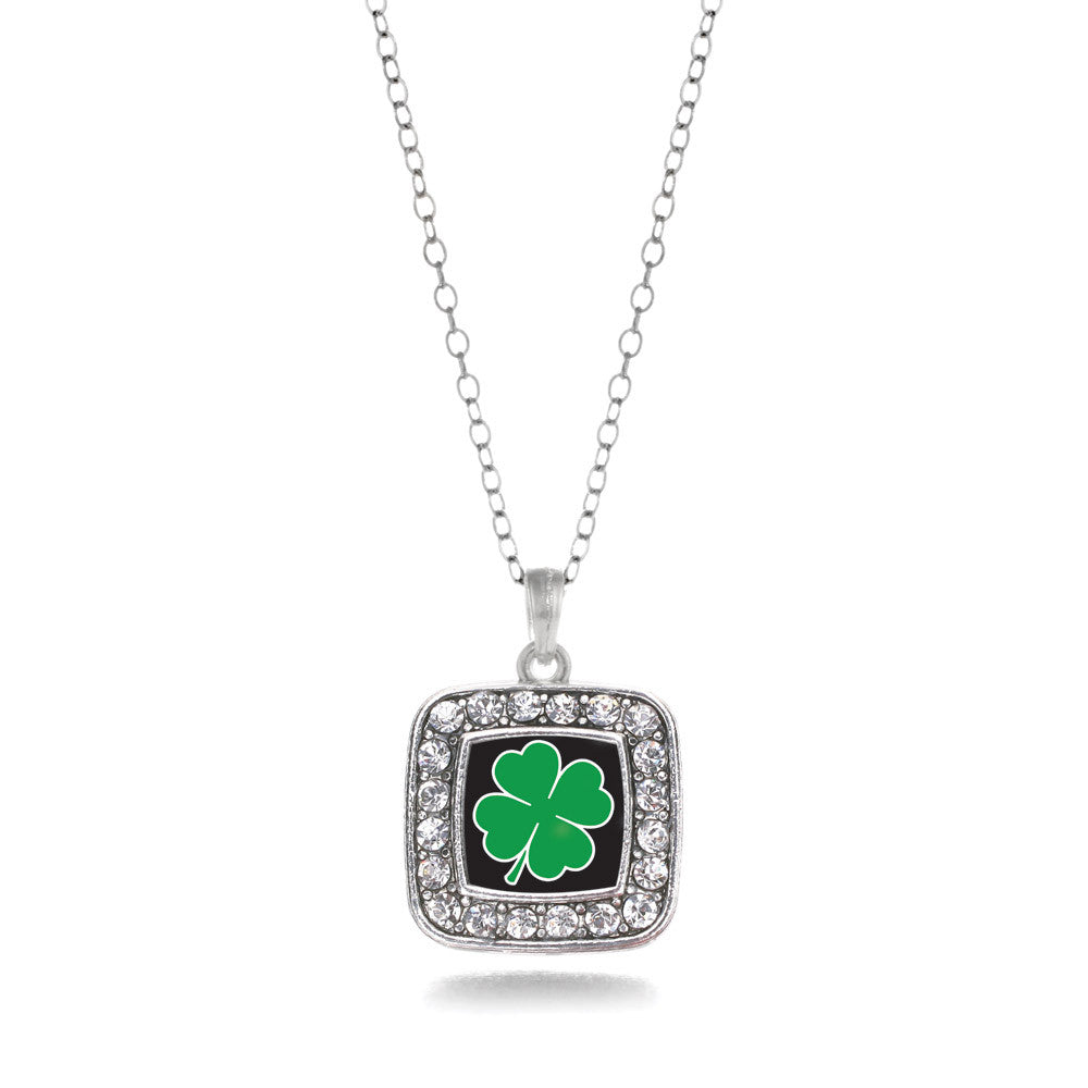 Four Leaf Clover Square Charm
