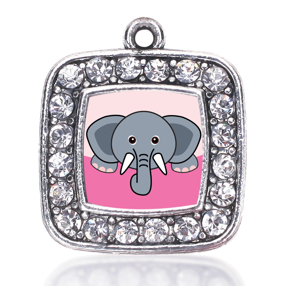 Peeking Elephant Square Charm