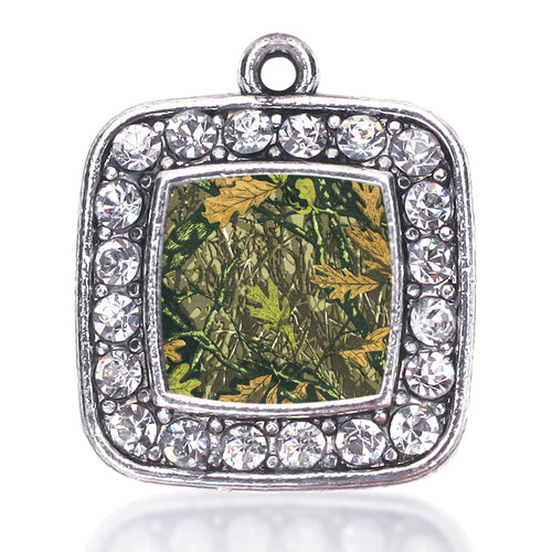 Green Hunting Pattern Square Charm