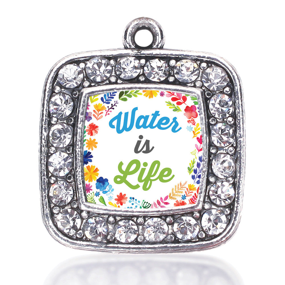 Water Is Life Square Charm