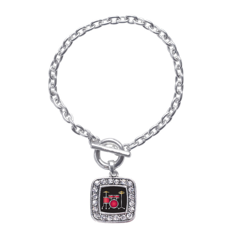 Drumset Square Charm