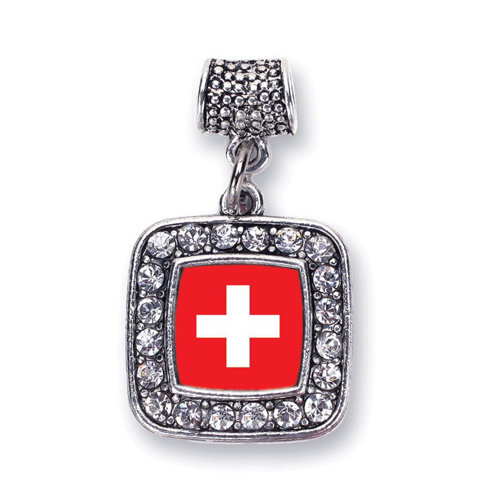 Switzerland Flag Square Charm