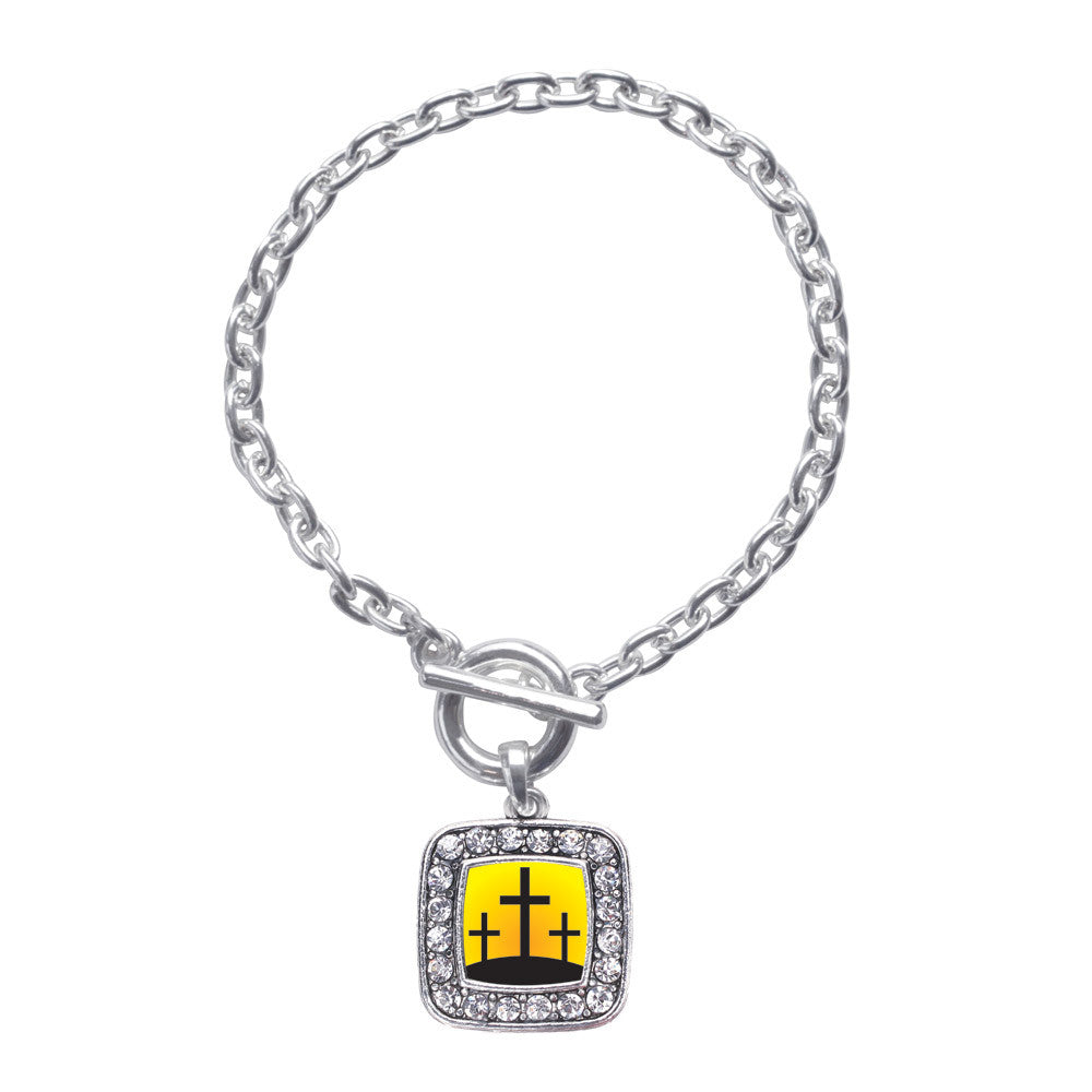 Three Crosses  Square Charm