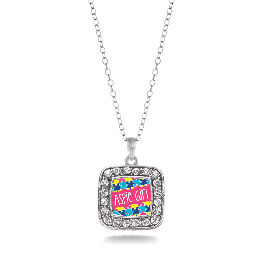Aspie Girl Square Charm