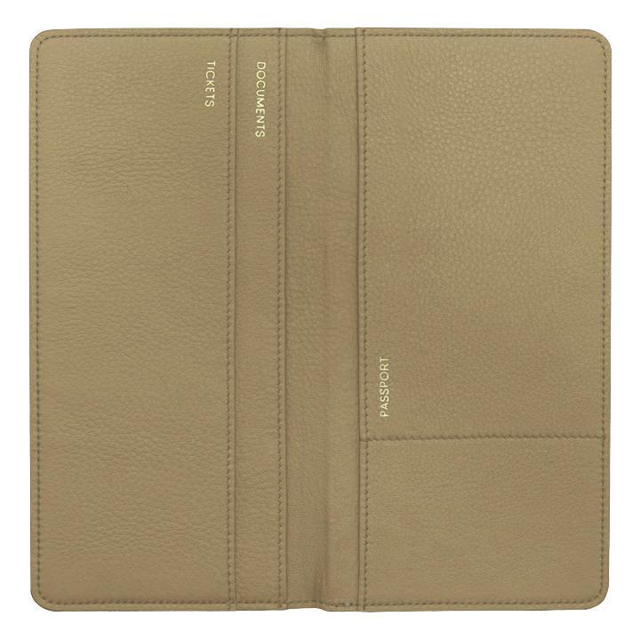 Champagne Leather Travel Wallet