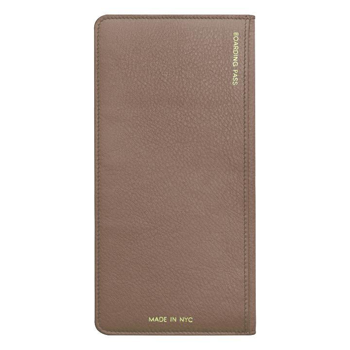 Mauve Leather Travel Wallet