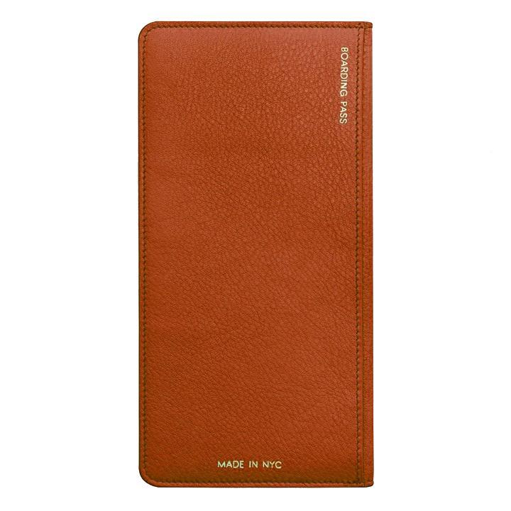 Orange Leather Travel Wallet