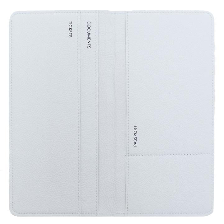 White Leather Travel Wallet