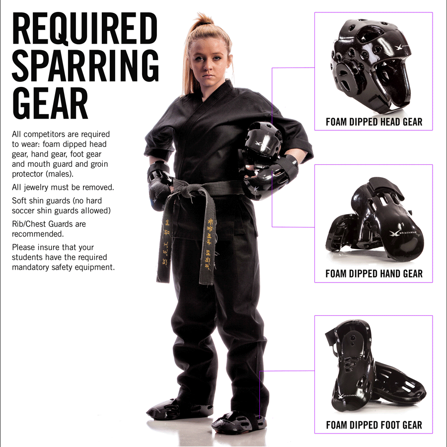 North East Open Martial Arts Tournament Sparring Gear Requirements